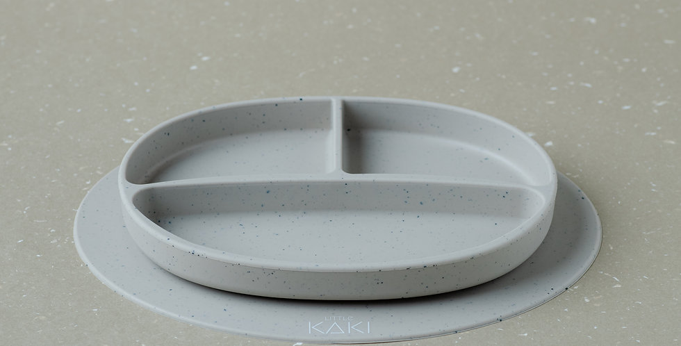 Orle Speckled Silicone Divided Plate