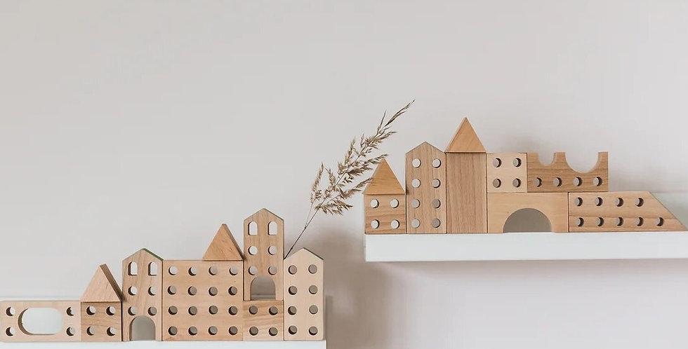 Bestie Green - Wooden Building Blocks