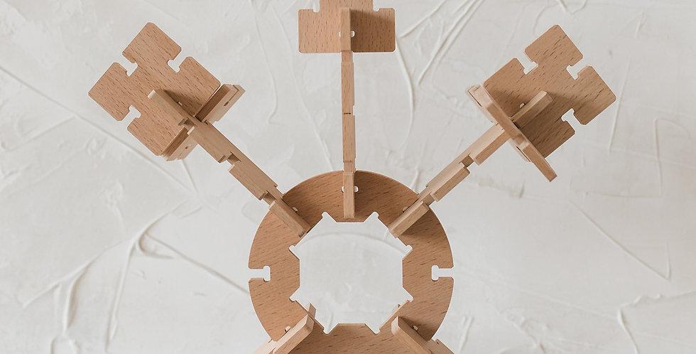 Bestie Green - Wooden Constructors Building Set