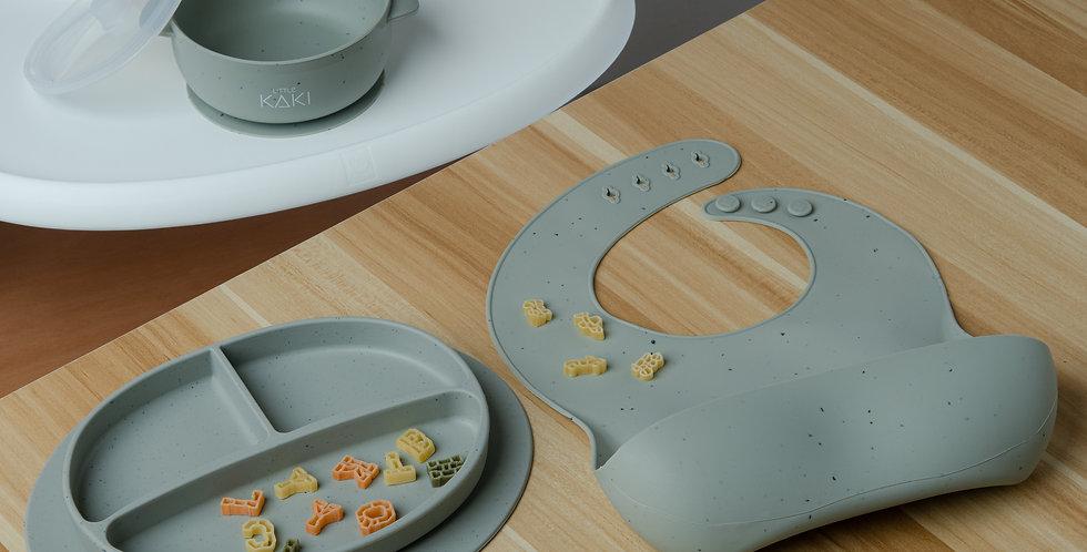 Orle Speckled Feeding Set - Sage