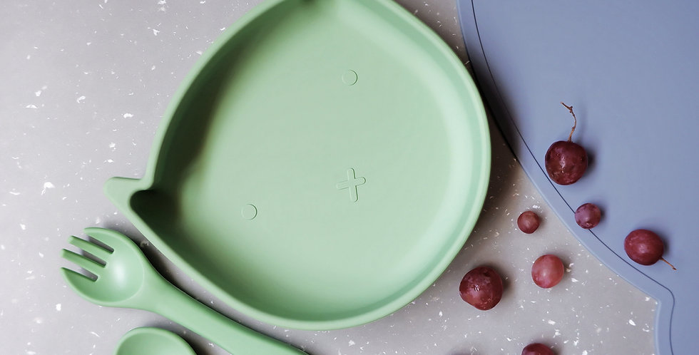 Felix Suction Plate with Matching Fork and Spoon