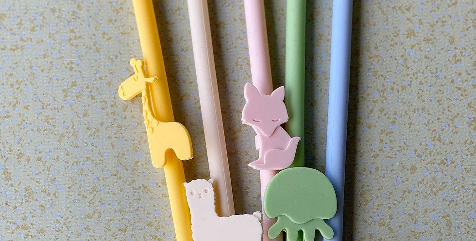 Trixie Reusable Silicone Straws (Set of 5)