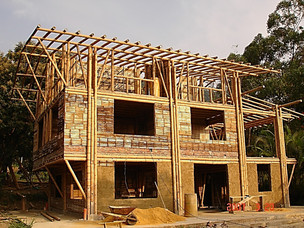 Bamboo structure construction process 6