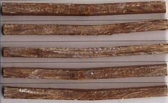 Plastiguadua-P, samples after bending test.