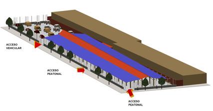 MADRUGON - Food market (Exterior 3D view)