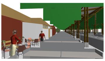 MADRUGON - Food market (Interior 3D view)