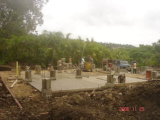 Bamboo structure construction process 2