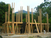 Bamboo structure construction process 3