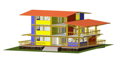Frontal 3D view