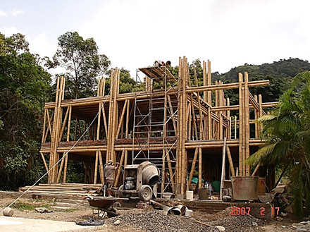 Bamboo structure construction process 5