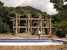 Bamboo structure construction process 4