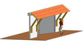External roof structure.