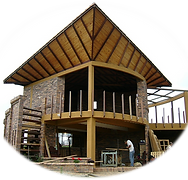 timber building, wood construction, country home, holiday house, madera