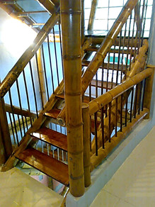 Interior view-Bamboo staircase