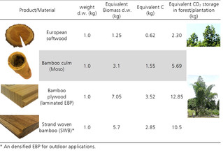 Environmental and structural benefits of using Engineered bamboo products (EBPs)