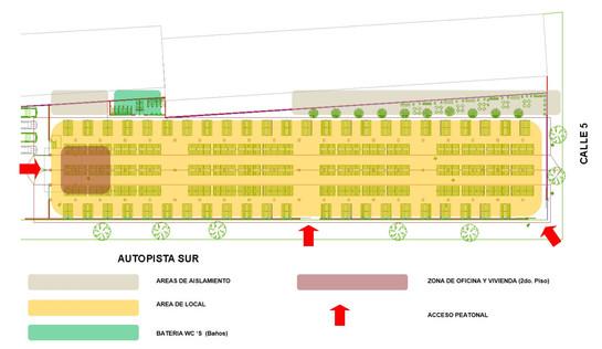 MADRUGON - Food market (Floor plan)