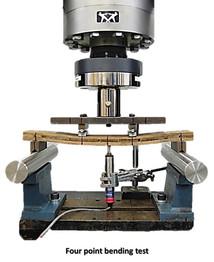 Four point bending test of XLam Guadua beams.jpg