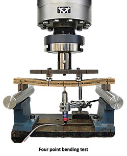 Four point bending test of XLam Guadua beams.jpg