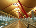 How can it be so simple?  Bamboo and steel make a great terminal at Madrid Barajas Airport.