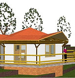 Bamboo architectural and structural design - Holiday house