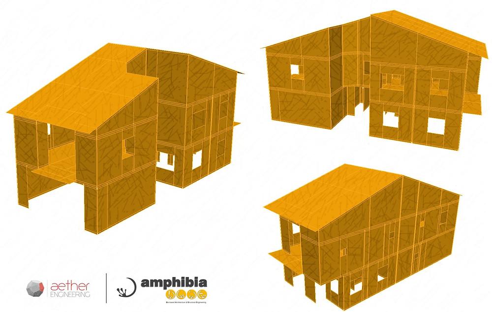 Structural model detached house