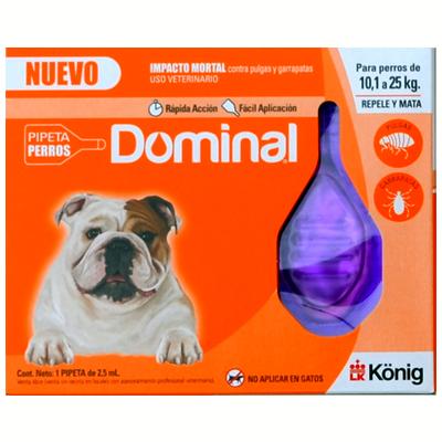Dominal para perros de 10,1 a 25 kg.