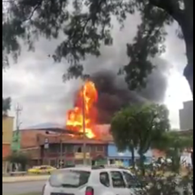 Gran incendio en el barrio Quiroga