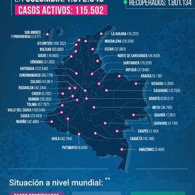 Colombia superó los 50 mil fallecidos a causa del Covid-19