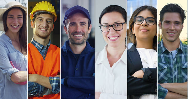 Collage professions, gardener, builder,