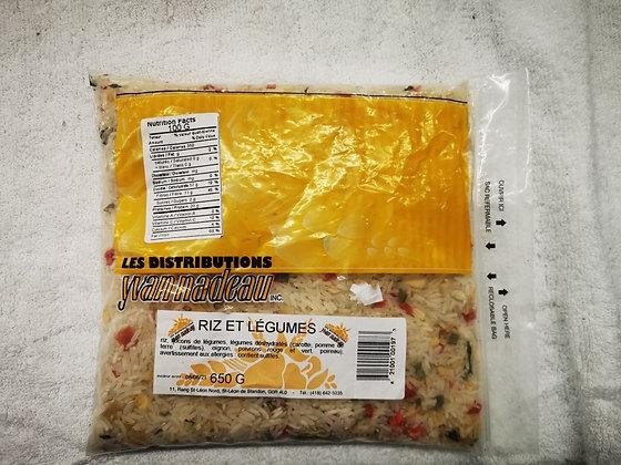 Mini-prix riz et légumes 650g