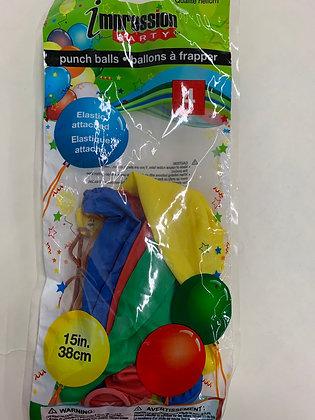 Ballon de fête avec élastique attaché