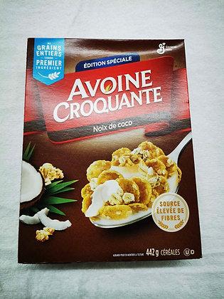 Céréales avoines croquante noix de coco 442gr.