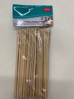 Brochette de bamboo