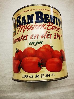 Tomate en dés dans jus 2,84L S.Benito