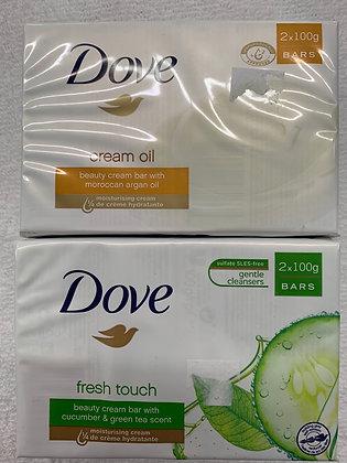 Dove barre de savon paquet de 2