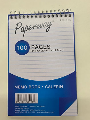 Calepin paperway 100 pages