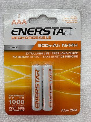 Enerstar rechargeable paquet de 2 AAA