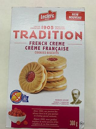 Biscuits tradition crème française leclerc