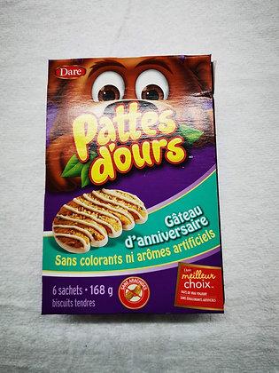 Pattes d'ours gâteau d'anniversaire 6 sachets