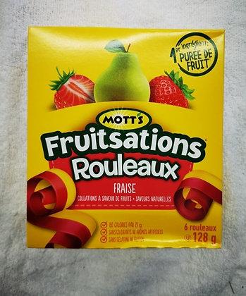 MOTT'S fruitsations rouleaux aux fraises