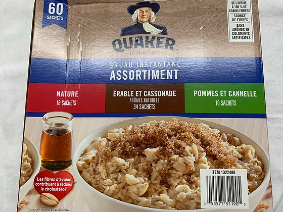 Quaker assortiment de gruau instantané