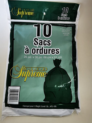 10 sac a ordures club supreme