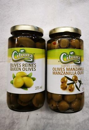 Olive verte cibona 375ml