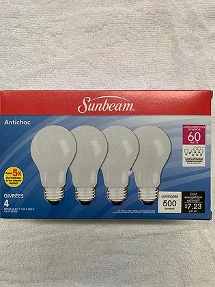 Sunbeam ampoule 60 watts