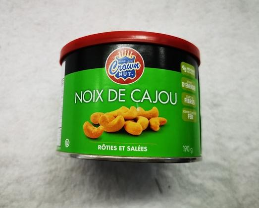 noix de cajou rôtie et salées 190gr