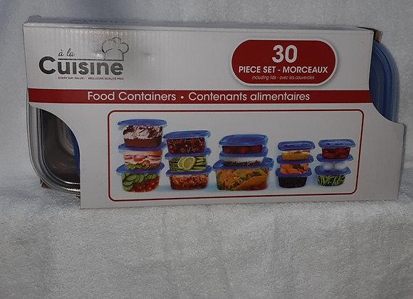 A la cuisine 30 contenant alimentaire