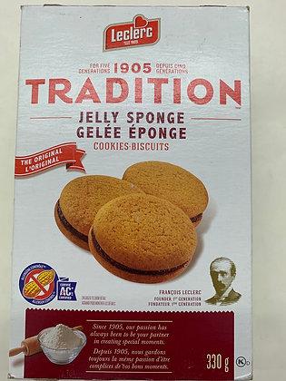Biscuits tradition gelé éponge leclerc