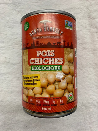 POIS CHICHES BIO Dunya Harvest 398ML