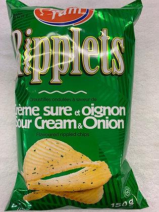 Chips ripplets crème sure et oignon yum yum