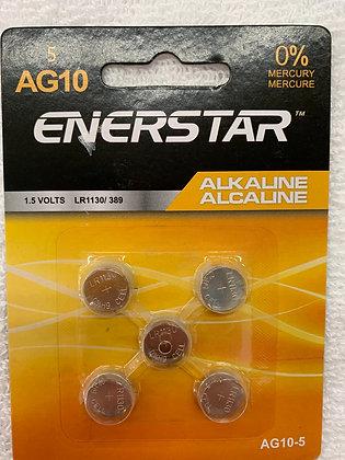 Enerstar paquet de 5 AG10